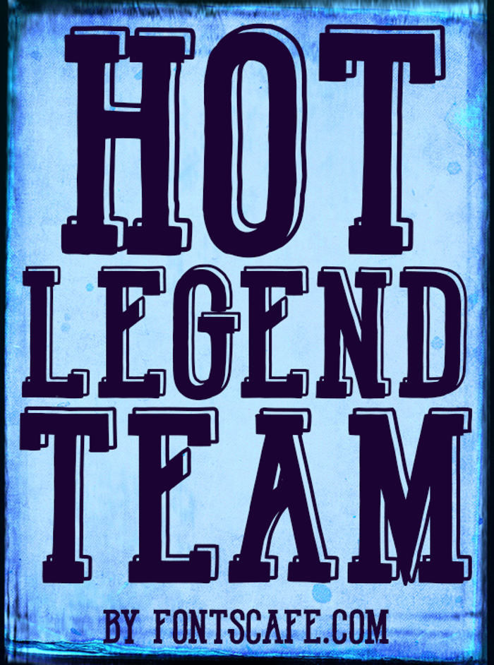 Hot Legend Team DEMO Font poster