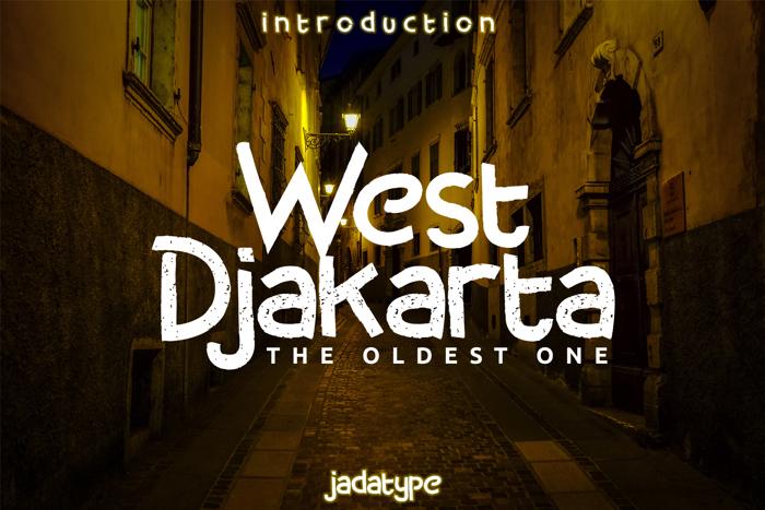 West Djakarta Font poster