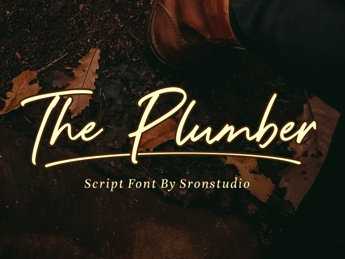 The Plumber Font poster