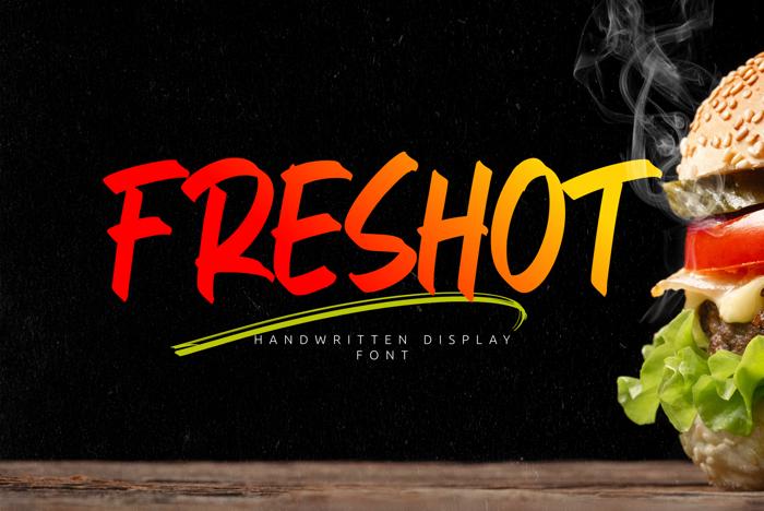Fres Hot Font poster