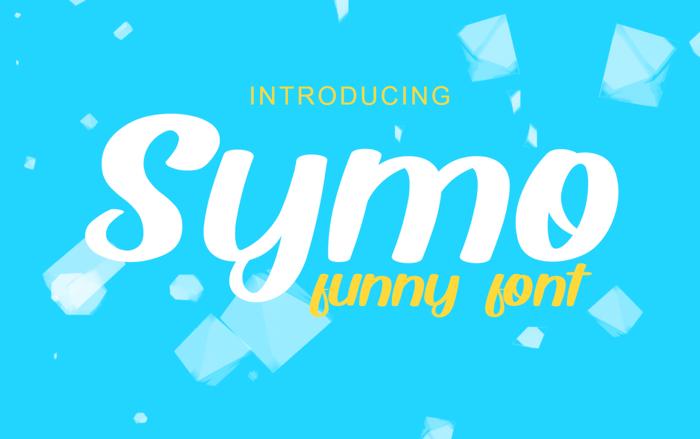 Symo Font poster