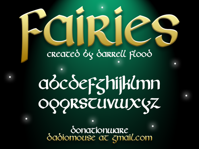 Fairies Font poster