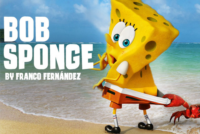 Bob Sponge Font poster