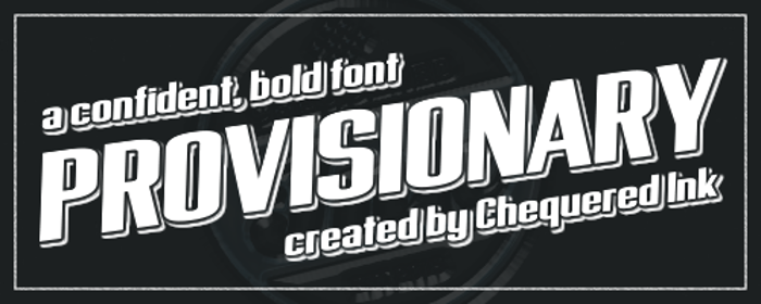 Provisionary Font poster