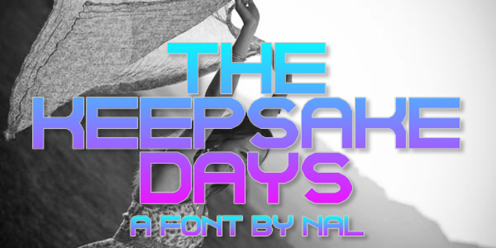 The Keepsake Days Font poster