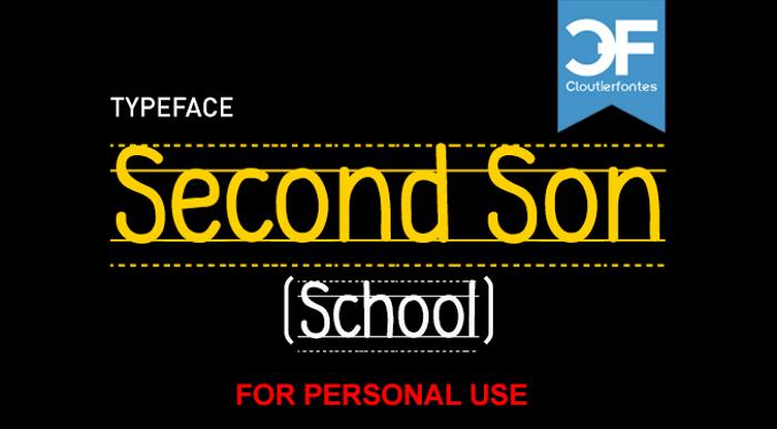 CF Second Son School Font poster