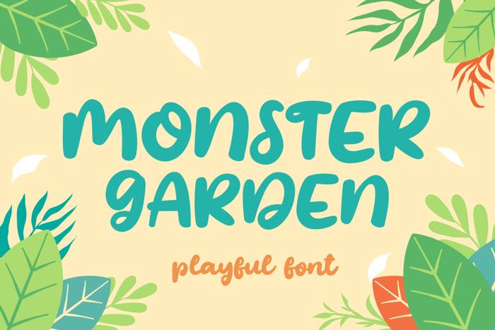 Monster Garden Font poster