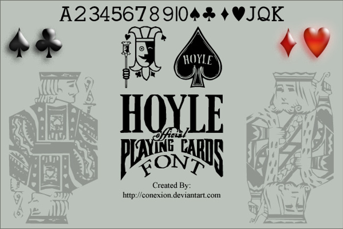Hoyle Playing Cards Font poster