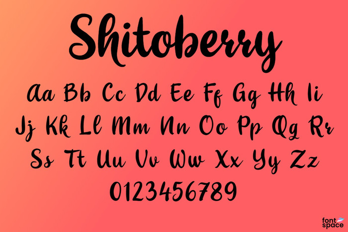 Shitoberry Font poster