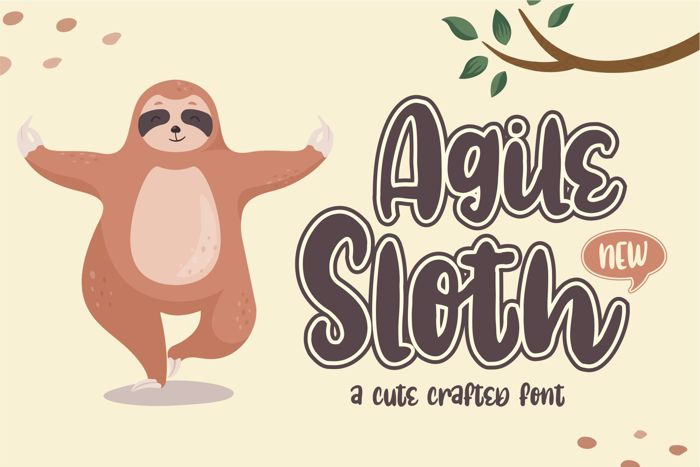 Agile Sloth Font poster