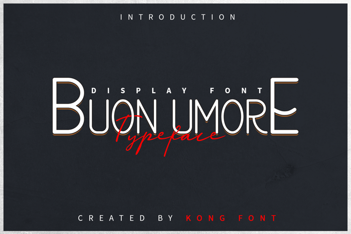 Buon Umore Font poster
