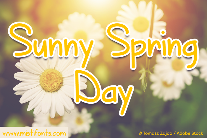 Sunny Spring Day Font poster