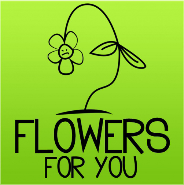 Flowers for you Font poster