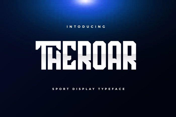 THEROAR Font poster