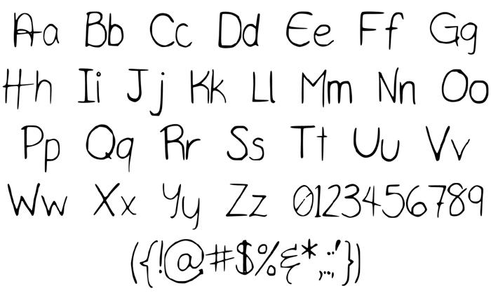 TaylorScript Font poster