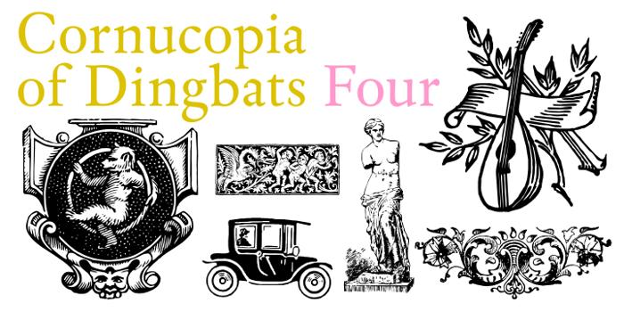 Cornucopia of Dingbats Four Font poster