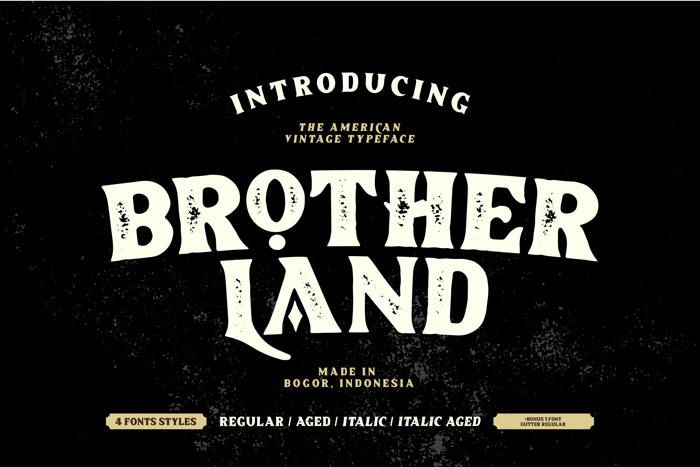Brotherland Font poster