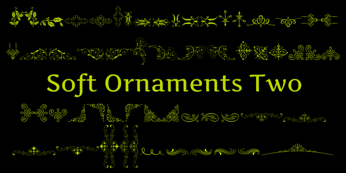 Soft Ornaments Two Font poster