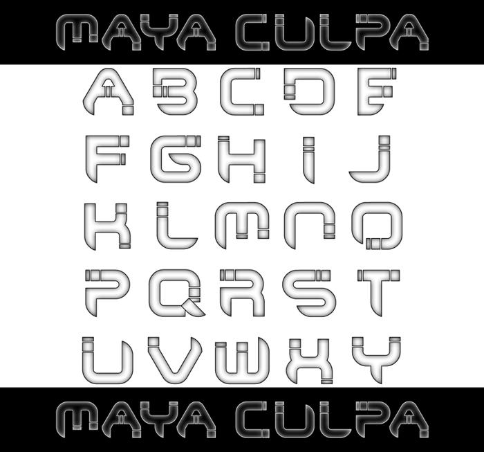 Maya Culpa Font poster