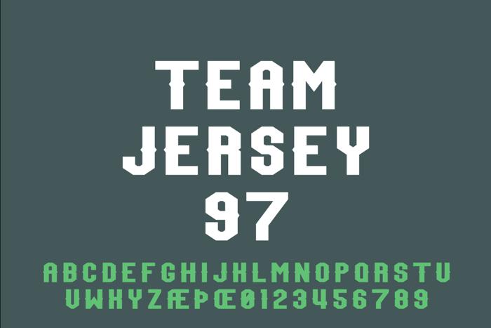 Team Jersey 97 Font poster