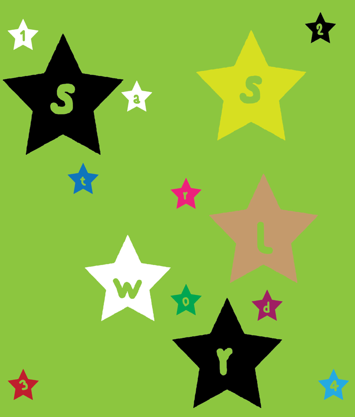 stars world Font poster