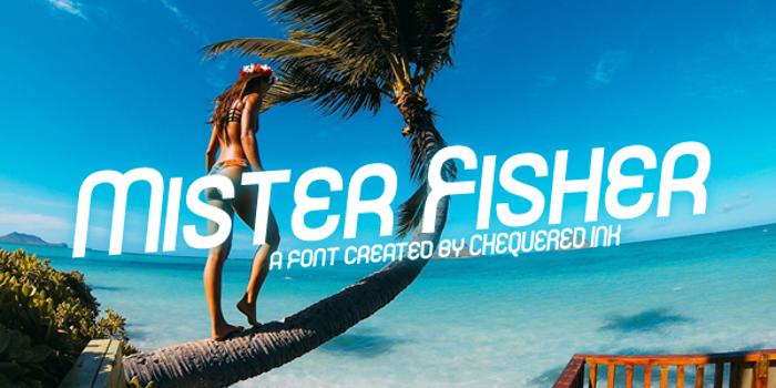 Mister Fisher Font poster