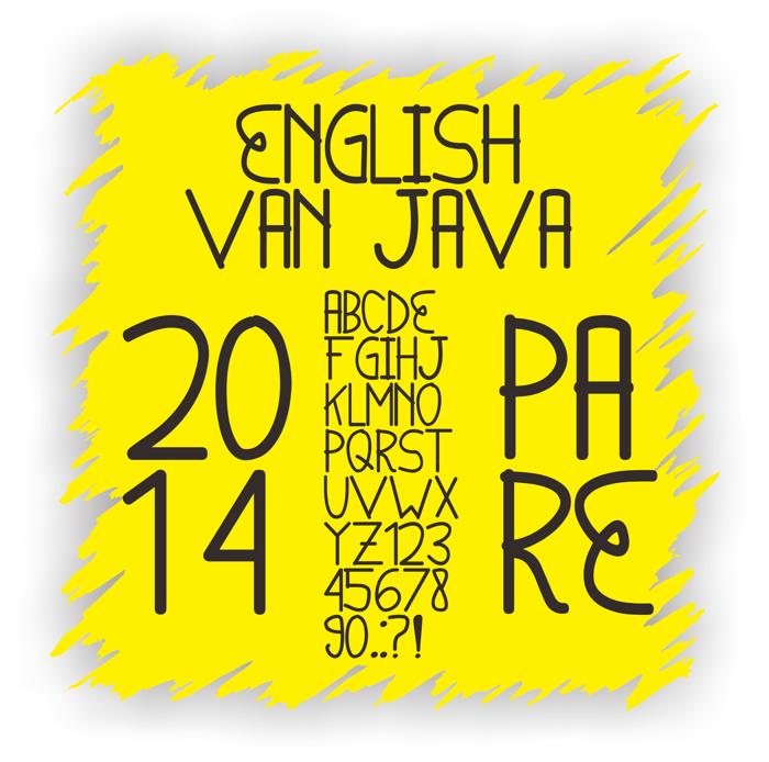 English van Java Font poster