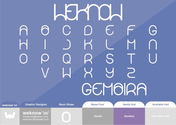 gembira Font poster