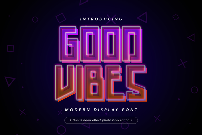 Good Vibes Font poster