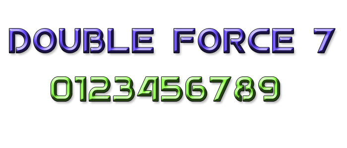 Double Force 7 Font