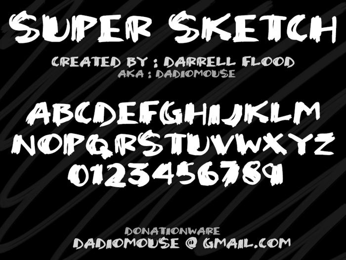 Super Sketch Font poster
