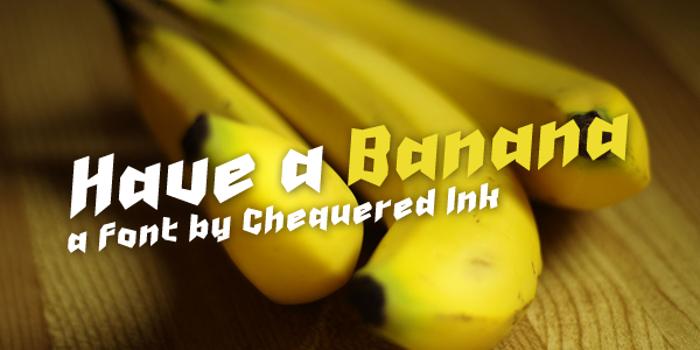 Have a Banana Font poster