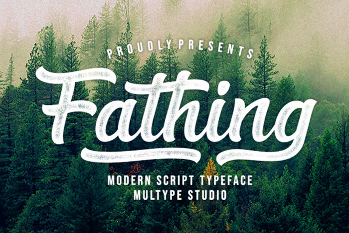 Fathing Font poster