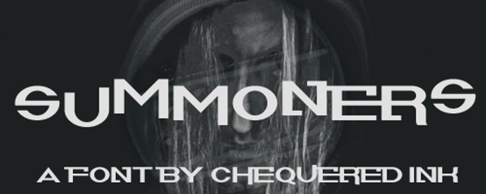 Summoners Font poster