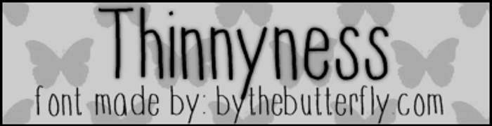 Thinnyness Font poster