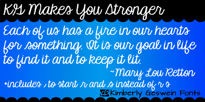 KG Makes You Stronger Font poster
