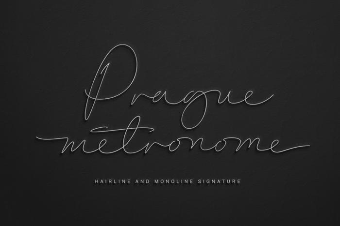 Prague Metronome Font poster