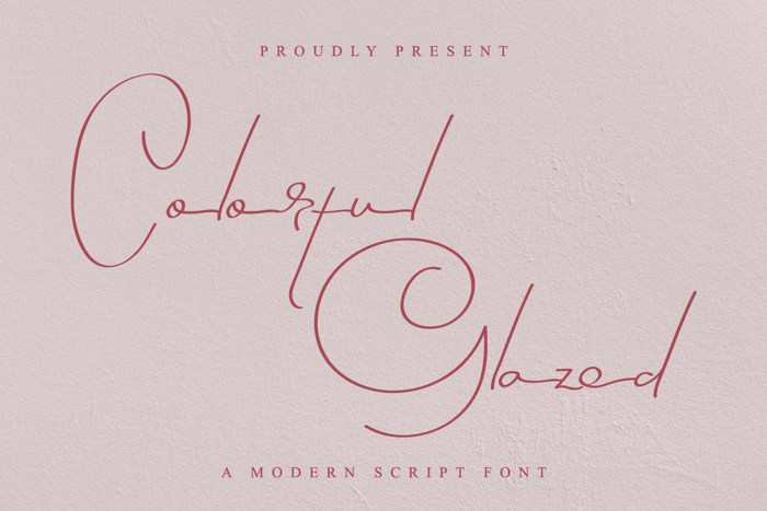 Colorful Glazed Font poster
