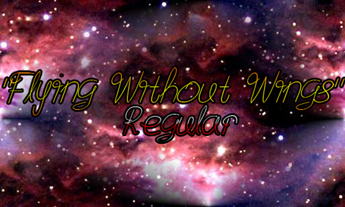 Flying Without Wings Font poster