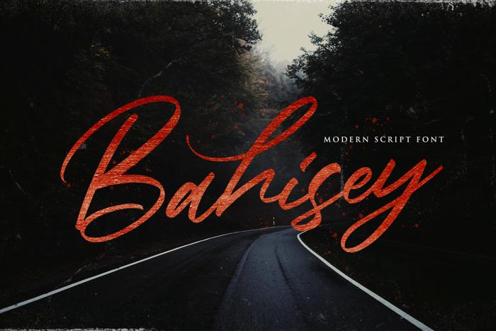 Bahisey Font poster