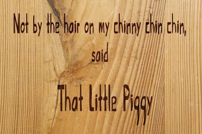 That Little Piggy Font poster