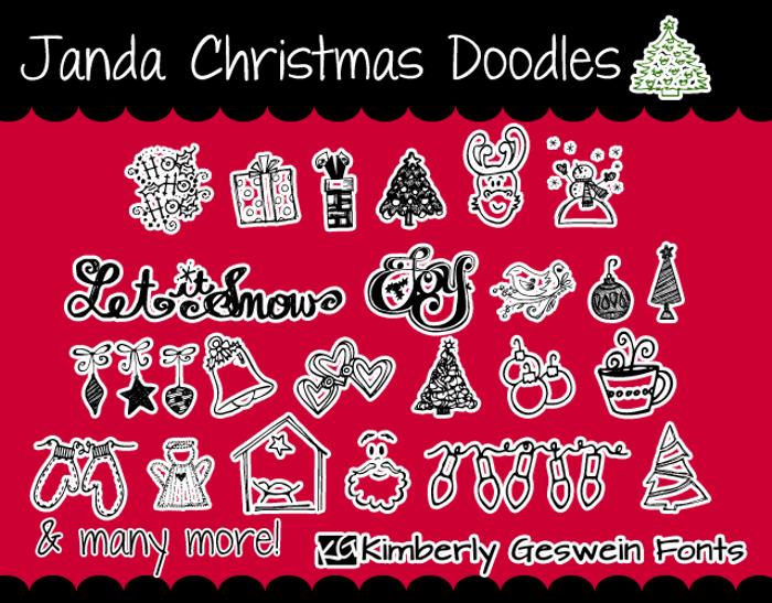 Janda Christmas Doodles poster