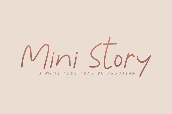 Mini Story Font poster