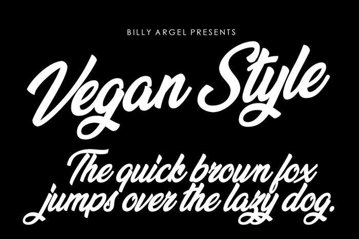 Vegan Style Font poster