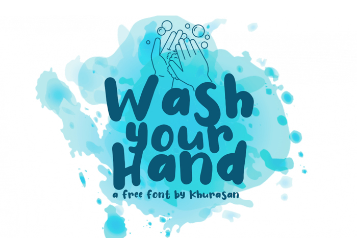Wash Your Hand Font