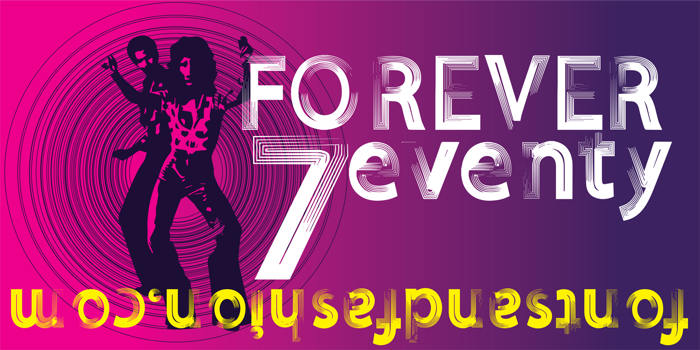 FOREVER 7entin demo Font poster