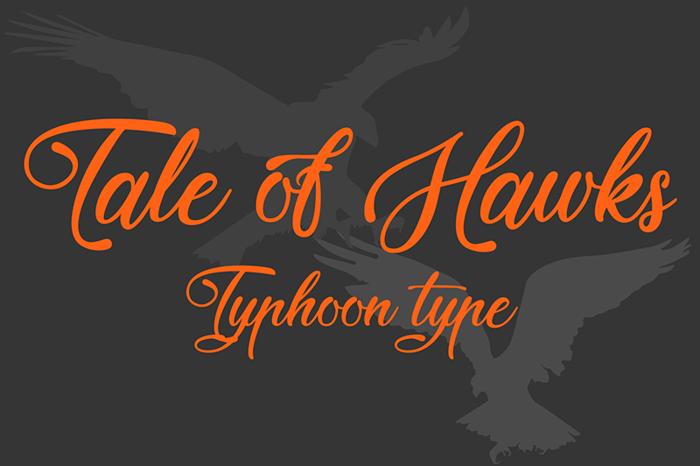 Tale of Hawks Font poster