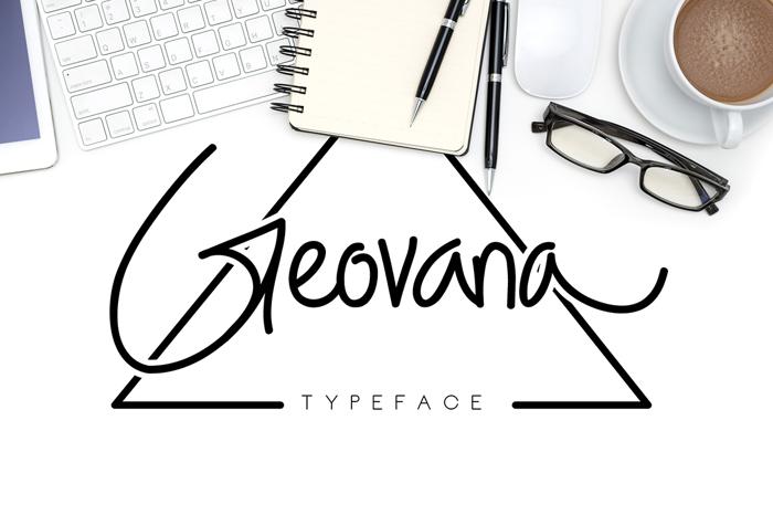 Geovana Font poster