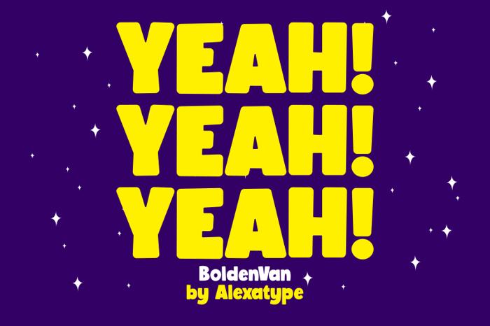 BoldenVan Font poster