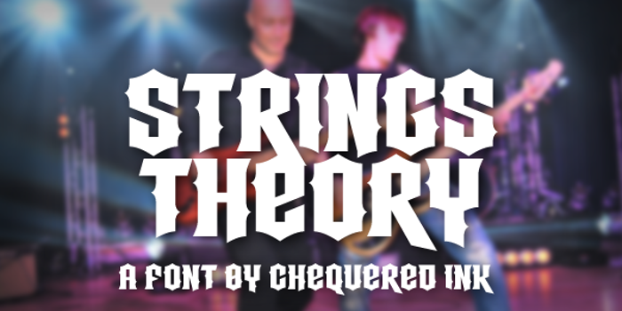 Strings Theory Font poster